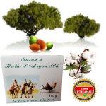 Savon à l huile d Argan bio  fleur de coton 150 g