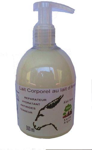 Lait corporel au lait d ânesse bio & huile d argan bio 300 ml (pompe)